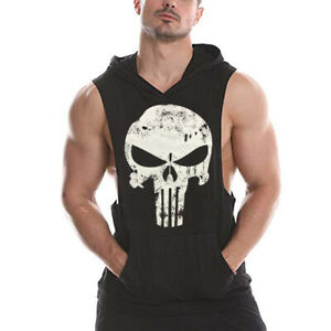 men Gym Stringer Shirt Fitness Tank Top Cotton Vest Bodybuilding Stringer hoodie