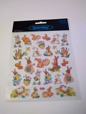 Scrapbooking Crafts Stickers Cute Bunnies Rabbits Basket Eggs Flowers Easter