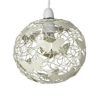 Contemporary Matt Cream Butterfly Wire Frame Easy Fit Ceiling Pendant Shade