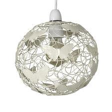 Contemporary Matt Cream Butterfly Wire Frame Ceiling Pendant Light Shade Lamp