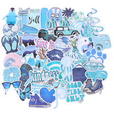 50Pcs Cartoon Blue Stickers Diy Suitcase Laptop Guitar Bicycle Car DeN_drDius