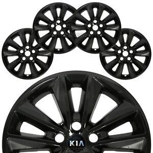"4 for Kia Sorento L LX 2019 2020 Black 17"" Wheel Skins Hub Caps Alloy Rim Covers"