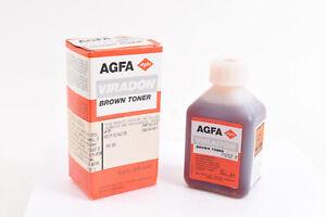 Agfa Viradon Brown Toner 125ml 4 oz for Toning Black & White Photo Paper NOS V25