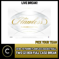 2018-19 PANINI FLAWLESS BASKETBALL 2 BOX FULL CASE BREAK #B261 - PICK YOUR TEAM