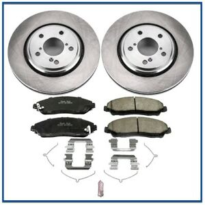 Front Brake Pad & Rotor/Disc Set POWERSTOP Ceramic for Honda PILOT Ridgeline