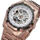 Luxury Men's Stainless Steel Analog Skeleton Automatic Mechanical Wrist Watch