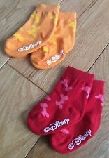 Disney Trumpette Pluto Dog Bone Designer Baby Socks 0-12mths x2 Pairs Orange/Red
