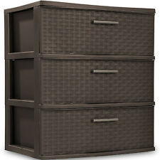 3 Drawer Wide Organizer Cart Plastic Storage Office Container Tower Bin Box