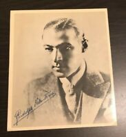 Rudolph Valentino THE SHEIK signed 8X10 photo picture poster autograph RP+HOLDER
