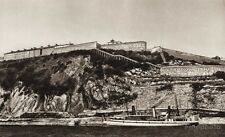 1925 Vintage CANADA ~ Citadel Quebec Military Waterfront Ship Landscape Photo