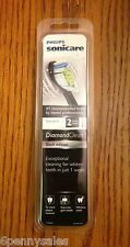 2 SONICARE BLACK EDITION DIAMONDCLEAN REPLACEMENT TOOTHBRUSH HEADS SONIC CARE