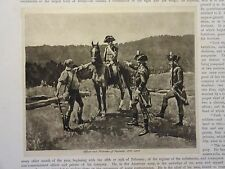 """Great B/W Print - """"Officer & Private . 1799-1802"""" Published in 1890 by G.B."""