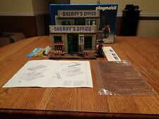 1992 Playmobil 3423 Western Sheriff's Office Jail Set ~ 100% Complete (Germany)