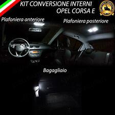 KIT FULL LED INTERNI OPEL CORSA E PLAFONIERA ANTERIORE+ POSTERIORE+BAGAGLIAIO