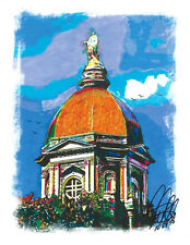 University of Notre Dame Dome Architecture Print Poster Wall Art 8.5x11