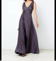 Issa Olivia Deep V Maxi Bridesmaid Dress Size 10 RRP£119 {R8}