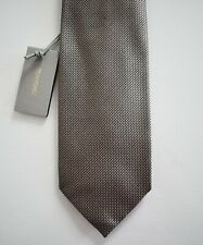 NWT Authentic TOM FORD Metallic Gray 100% SILK Classic Neck Tie