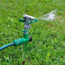 2x Garden Ground Spike Lawn Grass Hose 360 Degree Water Impulse Sprinkler System