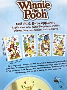 Disney Winnie The Pooh Removable Self-Stick - 76 Wall Art Decals Nursery Decor