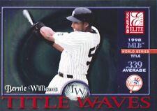 2001 Donruss Elite Title Waves #TW26 Bernie Williams /1998 New York Yankees