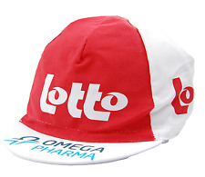 TEAM OMEGA PHARMA - LOTTO  EURO RACE TEAM WHITE & RED CYCLING CAP - OSFM