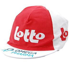 Team Omega Pharma Lotto Euro Race Team White & Red Cycling Cap OSFM