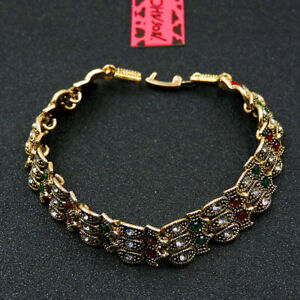 Betsey Johnson Fashion Jewelry Delicate Shiny Crystal Bangle Bracelet