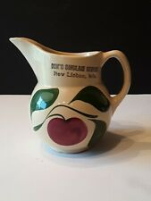 WATT POTTERY #15 3 LEAF APPLE PITCHER WITH ADVERTISING
