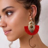 Women 2018 Bohemian Earrings Long Tassel Fringe Boho Dangle Earring Jewelry Hook