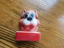 Dog Chalk Ware Plaque Vintage