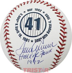 Tom Seaver Autographed Commemorative Baseball Inscribed Hall of Fame 1992 JSA