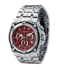 CALABRIA - FUOCO - Red Chronograph Men's Watch with Carbon Fiber Bezel