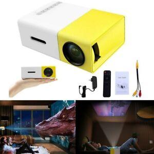 YG300 1080P Home Theater Cinema USB HDMI AV SD Mini Portable HD LED Projector UK