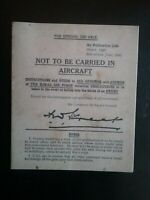 1941 BOOKLET ADVISING PILOT'S WHAT TO DO IF CAPTURED , HISTORY WORLD WAR II