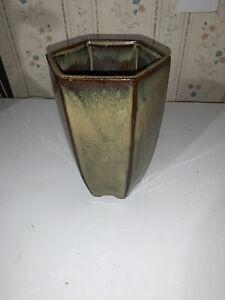 ceramic green/brown vase