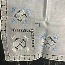 Vintage NWOT Something Old Something Blue Embroidered Handkerchief