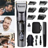 SEBORIO Hair Clippers Portable Men Cordless Trimmer Shavers Kit Cutting Beard