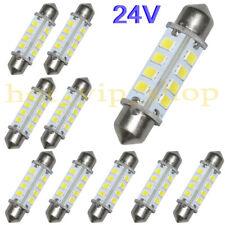 10x 39mm 24V LED Festoon Bulbs 16-2835SMD Dome Car Interior Light PureWhite 360°