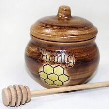 miel 0,3 l-topf avec distributeur de BOIS honigfass Récipient dose inventaire