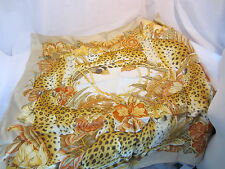 SALVATORE FERRAGAMO silk leopard animal scarf Gattopardofo NWT