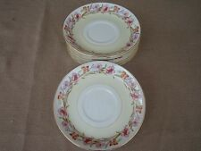 """Vintage 6 pc OCCUPIED JAPAN ALADDIN ALA3 - 5 5/8"""" China Saucers only - Free S/H"""