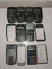 Lot of 6Texas Instrument Calculators  Solar, working all with covers