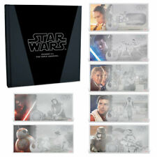 STAR WARS VII FORCE AWAKENS: The Complete 2019 Set - 7x 5g silver notes