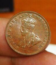 Straits Settlements KGV 1/4 Cent 1916  -  Au-Unc