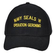 US Seal Team Six 6 VI Bin Laden Operation Geronimo Black Adjustable Hat Cap Mens