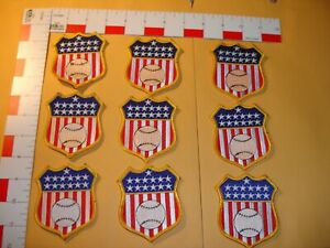 USA Baseball patches 9 total in set