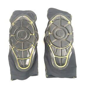 G-Form Pro X2 Knee Pad1 Pair Black w/Greenish yellow accents Sz Adult Large EUC