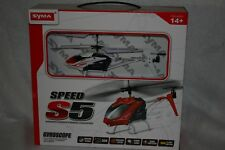 SYMA, S5, 3 channel, remote control, helicopter, gyroscope tech red black white