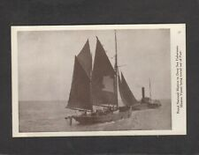 Fishermen Mission hospital ship towed out of post postcard