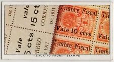 """1911 Nicaragua """"Back-to-Front"""" Overprint Postage Stamp 1930s Ad Card"""